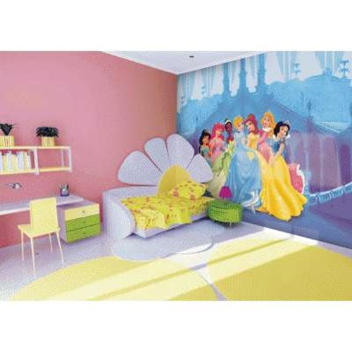 Princesses wall themes for little girls - Interior design