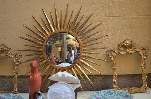 espejo de sol con ojo de pez