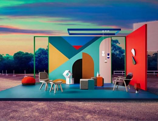 geometric colour block dulux retro remix