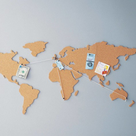 This world map corkboard: