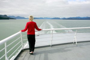 Alaska - Woman on Cruise Ship