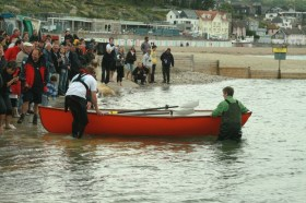Jim's fibreglass rowing skiff. Photograph by Jon Palmer