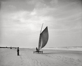 Land sailing Ormond Florida circa 1900 from Shorpy 2