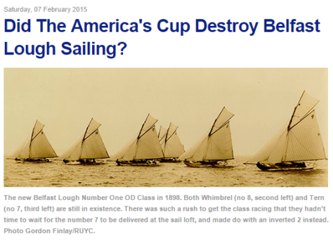 Did the America's Cup destroy Belfast Lough Sailing