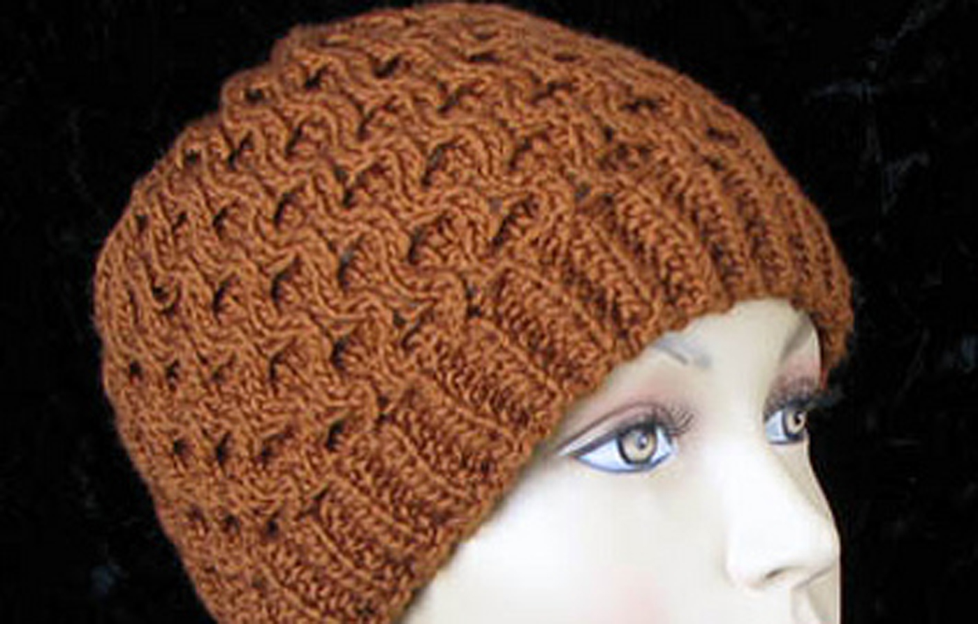 Honeycomb Knitting Pattern : Honeycomb Hat Free Knitting Pattern