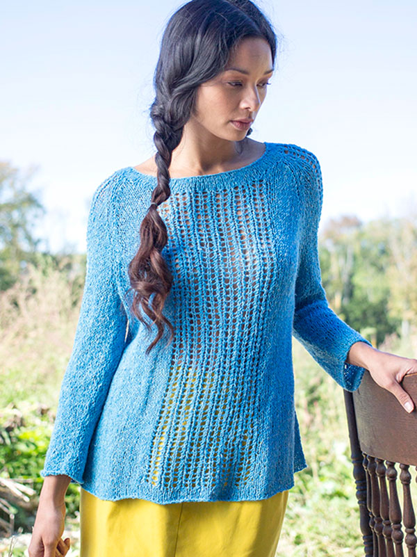 Knitting Pattern Sweater Lace : Lace Pullover Free Knitting Patterns In the Loop Knitting
