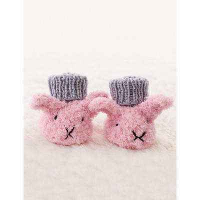Itty Bitty Fuzzy Wuzzy Bunny Booties Free Knitting Pattern | Free Bunny Rabbit Knitting Patterns at http://intheloopknitting.com/free-bunny-knitting-patterns