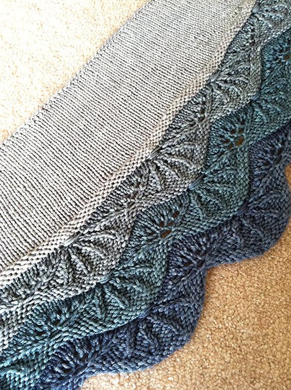 Knitting Pattern Aran Shawl : Free Shawl and Wrap Knitting Pattterns In the Loop Knitting