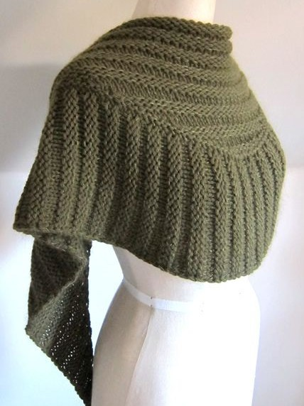 Free Knitted Shawl Pattern : Textured Shawl Knitting Patterns In the Loop Knitting