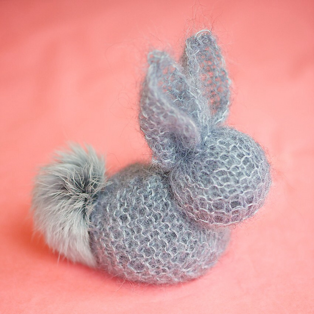Knit Square Bunny Free Knitting Pattern | Free Quick Easter Knitting Patterns at http://intheloopknitting.com/free-quick-easter-knitting-patterns