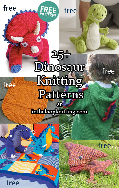 Free Dinosaur Knitting Pattern : Dinosaur Knitting Patterns In the Loop Knitting