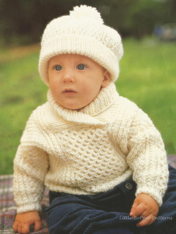 Childs Aran Jumper Knitting Pattern : Free Baby and Toddler Sweater Knitting Patterns In the Loop Knitting