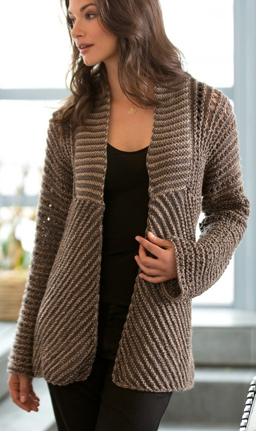Knitted Jacket Pattern : Jacket and Coat Knitting Patterns In the Loop Knitting