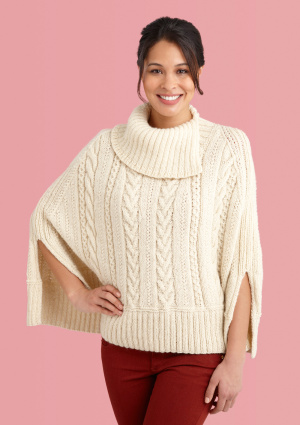 Knitting Pattern Poncho With Collar : Poncho Knitting Patterns In the Loop Knitting