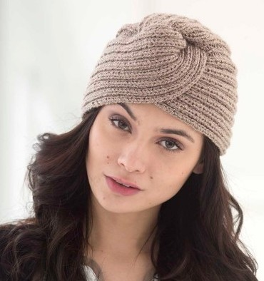Knitted Turban Pattern Free : Turban Hat Knitting Patterns In the Loop Knitting