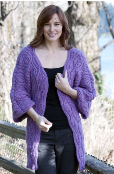 Luscious Leaves Coat Free Knitting Pattern