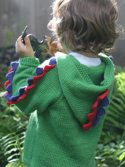 Baby Dinosaur Knitting Pattern : Little One Hoodie Knitting Patterns In the Loop Knitting