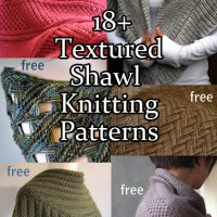 Textured Shawl Knitting Patterns