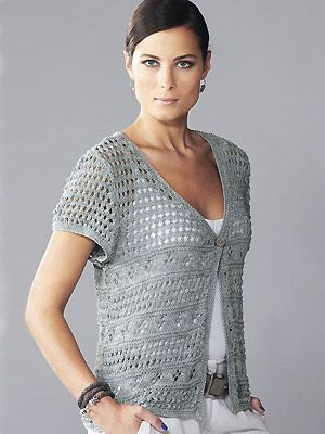 Short Sleeve Cardigan Knitting Patterns In the Loop Knitting