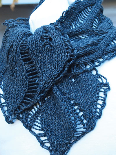 Knit Leaves Pattern : Lacy Scarf Knitting Patterns In the Loop Knitting
