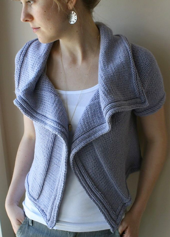 Knitting Pattern Cardigan Short Sleeve : Short Sleeve Cardigan Knitting Patterns In the Loop Knitting