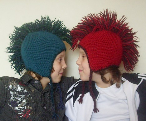 Free knitting pattern for Mohawk Hat and more fun hat knitting patterns