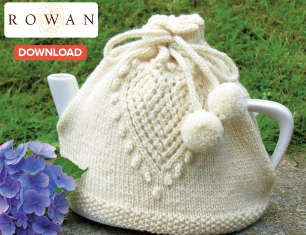 Love Tea Pot Cosy with heart knitting pattern and more cosy knitting patterns