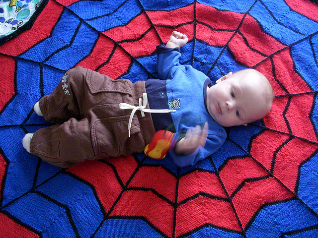Spiderman Blanket Free Knitting Pattern and more super hero knitting patterns
