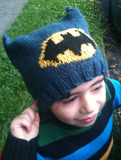 Knitting Pattern Batman Scarf : Super Hero Knitting Patterns In the Loop Knitting