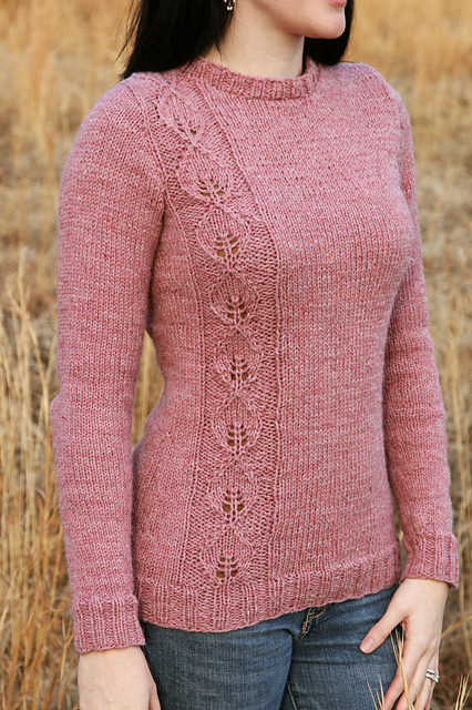 Pullover Sweater Knitting Pattern : Long Sleeve Pullover Sweater Knitting Patterns In the Loop Knitting