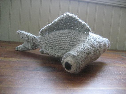 Free knitting pattern for Hammerhead Shark toy and more sea creature knitting patterns