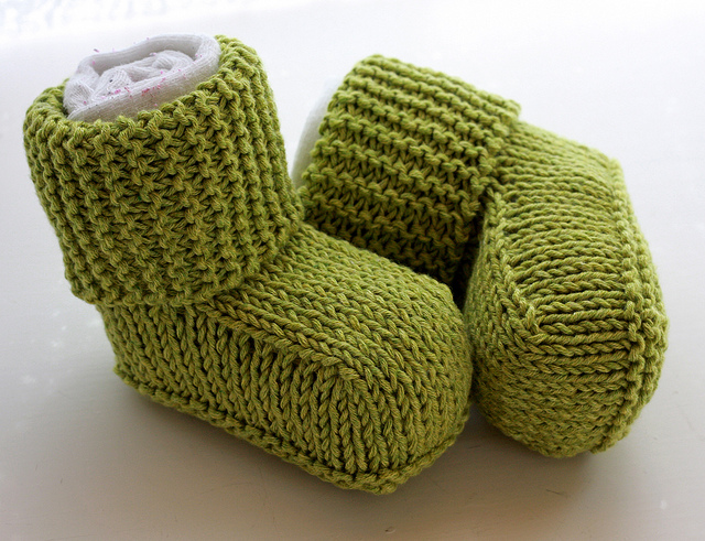 Free Download Baby Knitting Patterns : Baby Bootie Knitting Patterns In the Loop Knitting