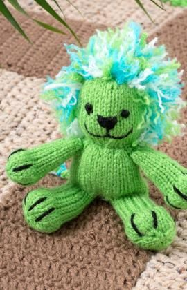 Knitting Pattern For A Toy Lion : Wild Animal Knitting Patterns In the Loop Knitting
