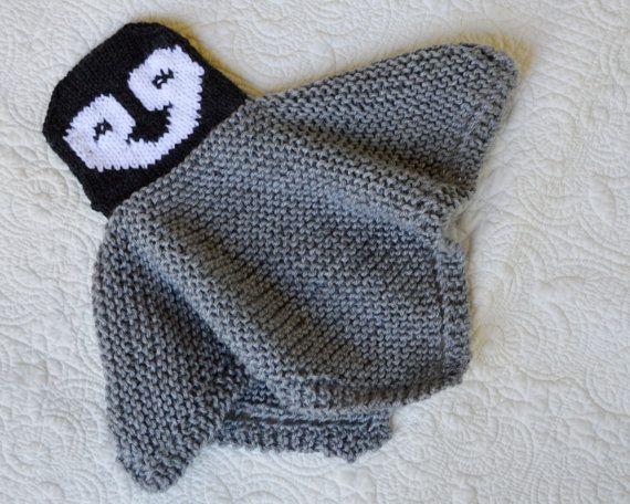 Knitting pattern for Penguin blanket buddy lovey and more security blanket knitting patterns