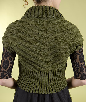 Knitting Patterns For Shrugs With Shawl Collar : Easy Shrug Knitting Patterns In the Loop Knitting