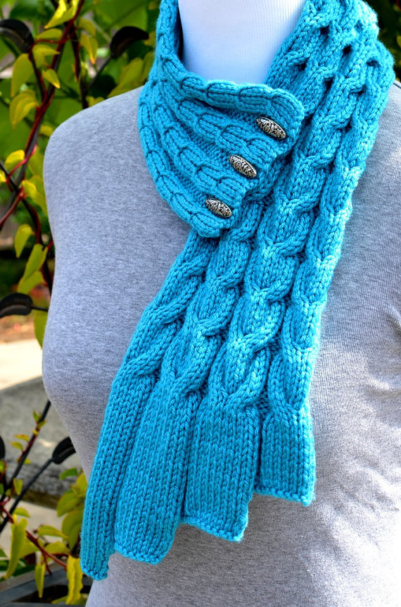 Knitting Pattern For Waterfall Scarf : Neckwarmer Knitting Patterns In the Loop Knitting
