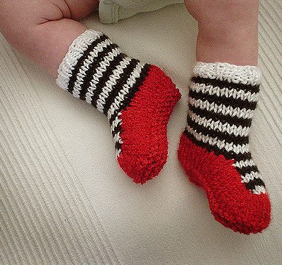 Free knitting pattern for Ruby Slipper Booties