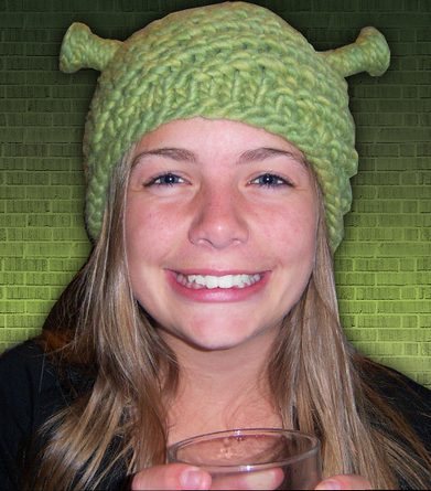 Free knitting pattern for Shrek Hat