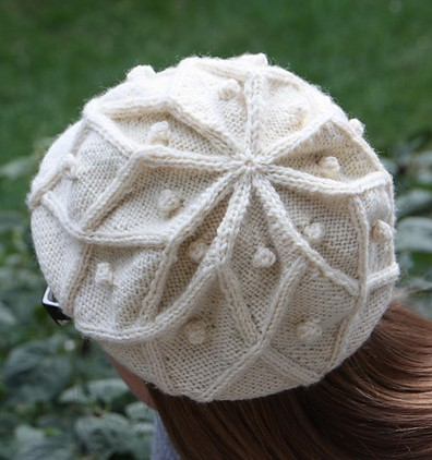 Free Knitting Pattern Cabled Beret : Beret Knitting Patterns In the Loop Knitting