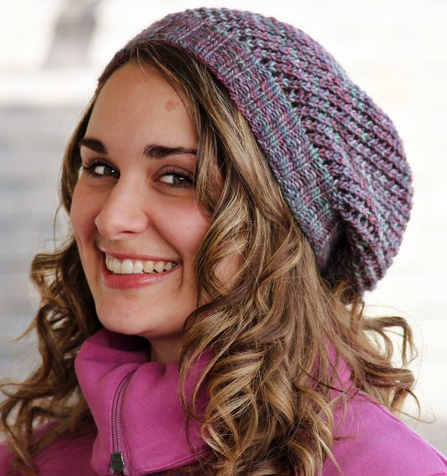 Beanie Knitting Pattern Free : Slouchy Beanie Knitting Patterns In the Loop Knitting