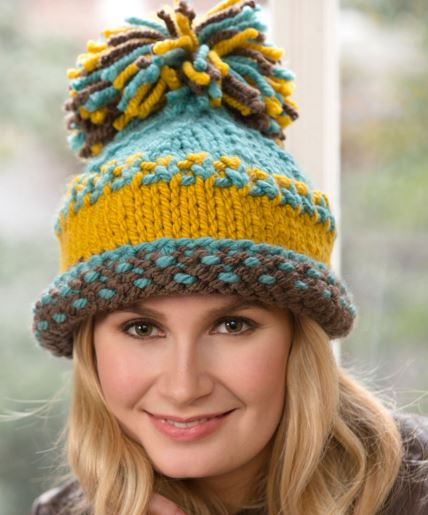 Bulky Yarn Knit Patterns : Pom Pom Hats Knitting Patterns In the Loop Knitting