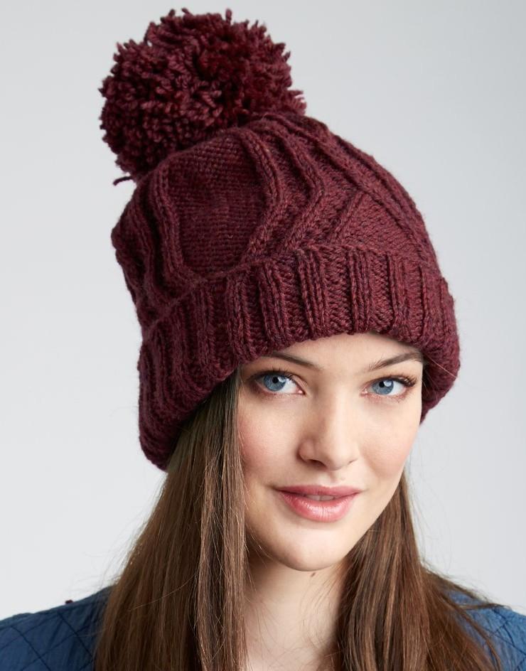 Knitting Pattern Pom Pom Hat Free : Pom Pom Hats Knitting Patterns In the Loop Knitting