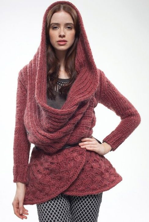 Knitting Pattern Wrap Over Cardigan : Hooded Sweater Knitting Patterns In the Loop Knitting