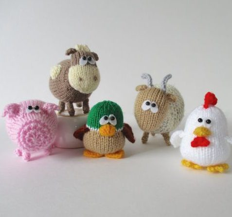Knitting Patterns For Miniature Animals : Teeny Toy Knitting Patterns In the Loop Knitting