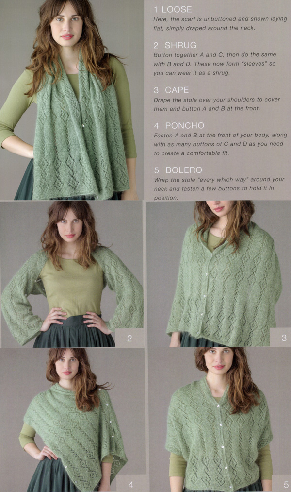 Knitting Pattern For Lace Poncho : Multi-Purpose Knitting Patterns In the Loop Knitting