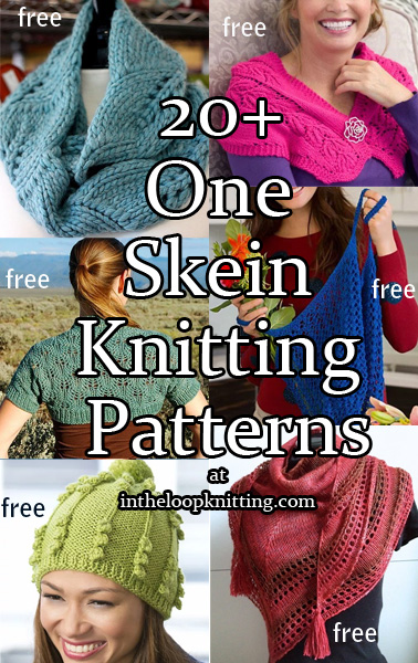 One Skein Knitting Patterns : One Skein Knitting Patterns In the Loop Knitting