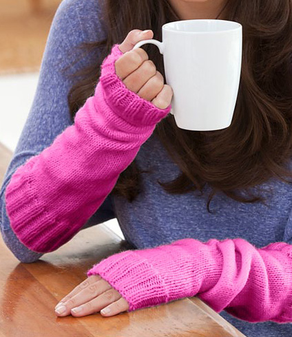Long Arm Warmers Knitting Pattern : Easy Fingerless Mitts Knitting Patterns In the Loop Knitting