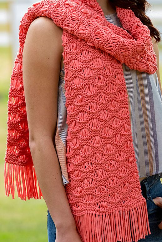 Free Knitting Patterns For Scarves Easy : Easy Scarf Knitting Patterns In the Loop Knitting