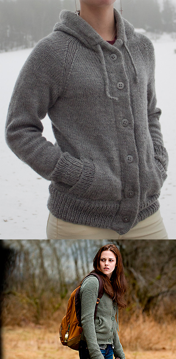 Knitting Pattern Hooded Cardigan : Hooded Sweater Knitting Patterns In the Loop Knitting