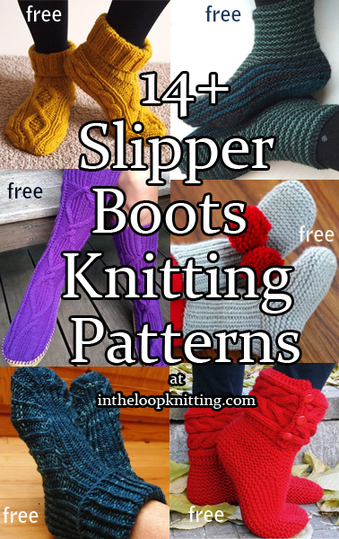 Slipper Socks and Boots Knitting Patterns In the Loop ...